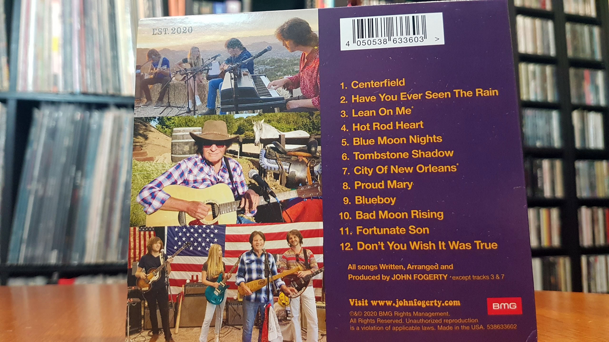 Fogerty's Facotry - back cover