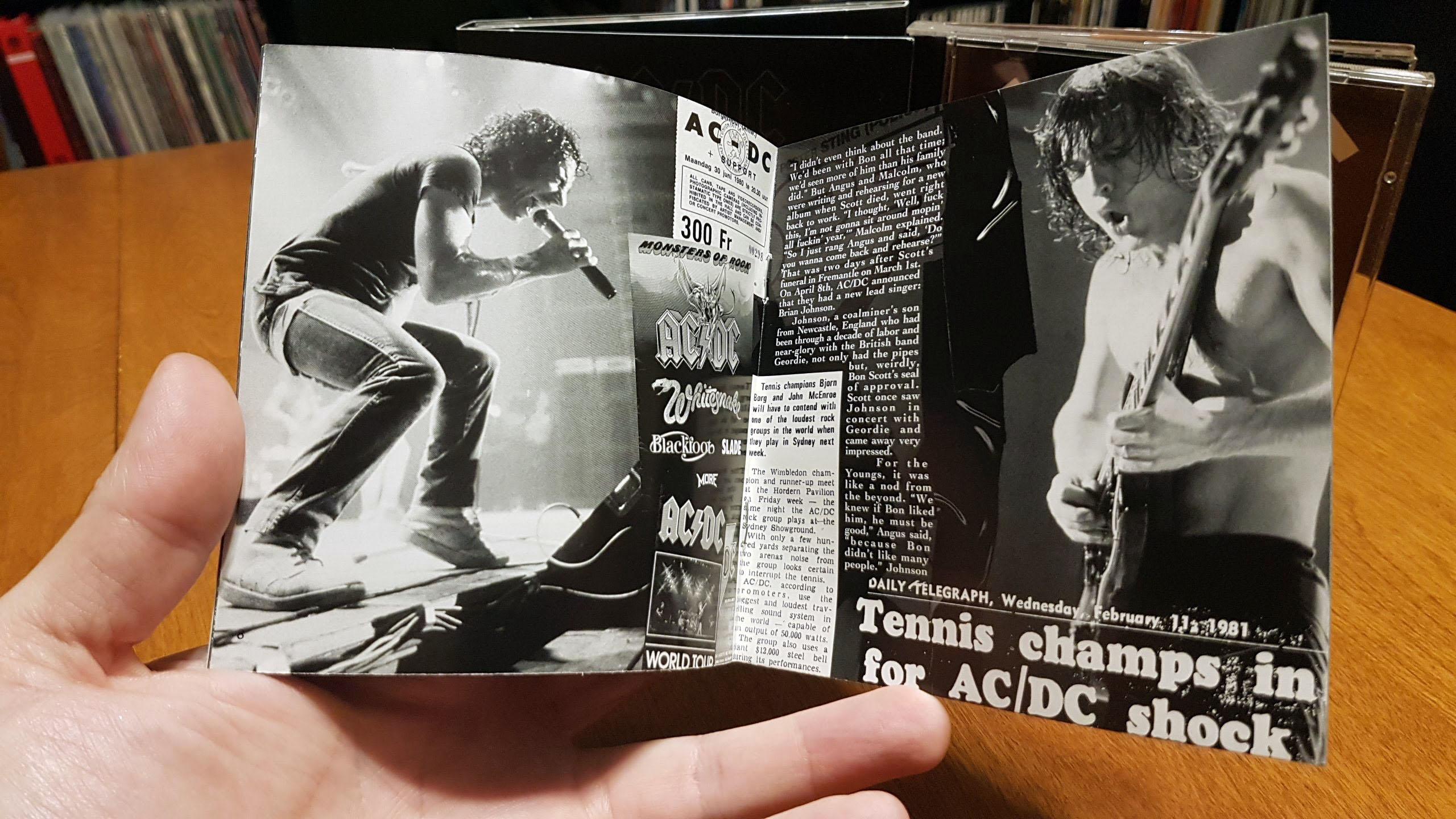 back in black dualdisc booklet