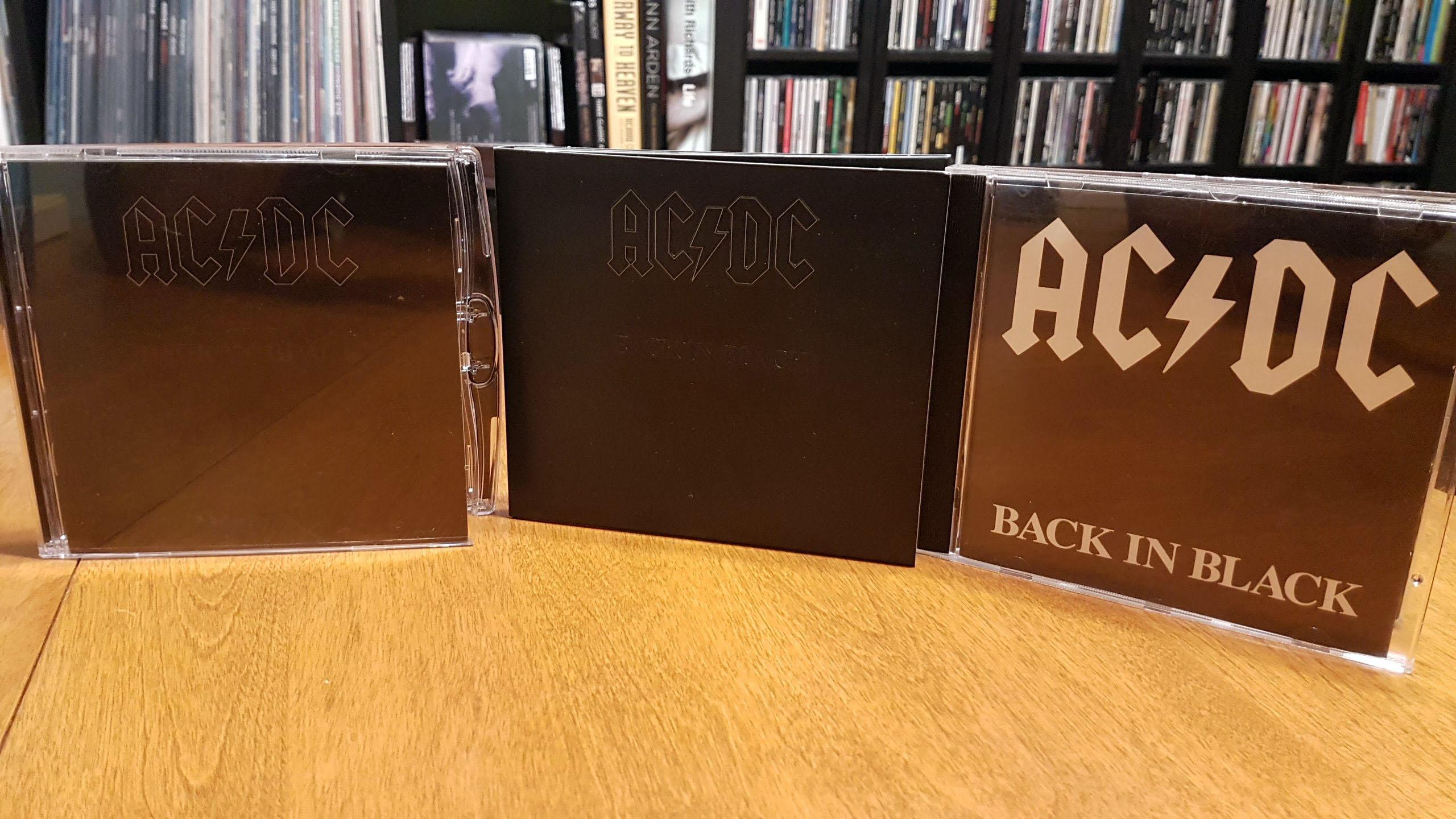 back in black dualdisc lineup